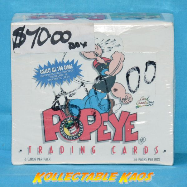 Popeye Collector Cards Sealed Box