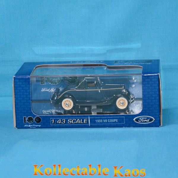 1:43 1933 Aust Ford Sports Coupe 'Washington Blue' 100 Year Boxing