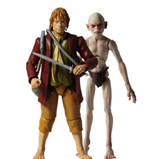 "The Hobbit - 3.5"" Bilbo and Gollum"