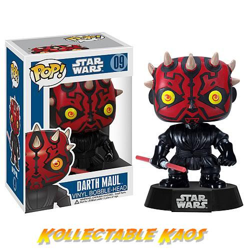 FUN2390 SW Darth Maul - Star Wars - Darth Maul Pop! Vinyl Bobble Figure #09