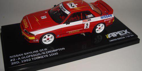 1:43 Apex - 1992 Tooheys 1000 - Nissan GT-R - 3rd Place - Olofsson/Crompton