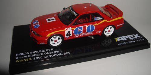 1:43 Apex - 1991 Sandown 500 - Nissan GT-R - Gibbs/Onslow