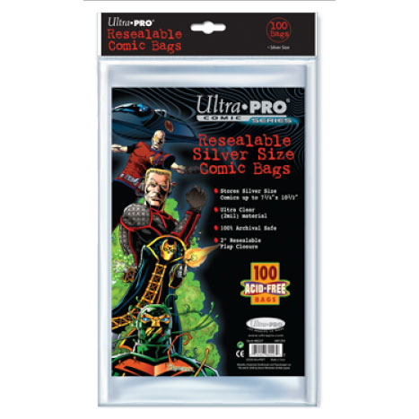 ULTRA PRO Comic Accessories - Resealable Silver Size Bags (100bags)