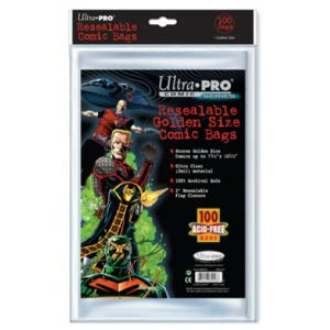 ULTRA PRO Comic Accessories - Resealable Golden Size Bags (100bags)