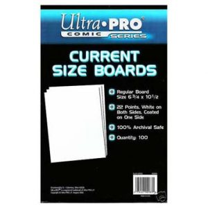 Ultra Pro Comic Storage Accessories - Backing Boards Current 100 per packet