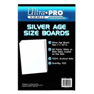 Ultra Pro Comic Storage Accessories - Silver Comic Backing Boards 100 per packet