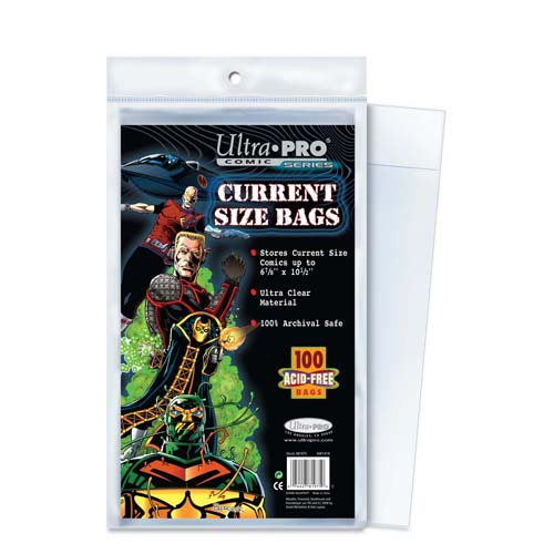 Ultra Pro Comic Storage Accessories - Current Size Comic Bags 100 bags/pack