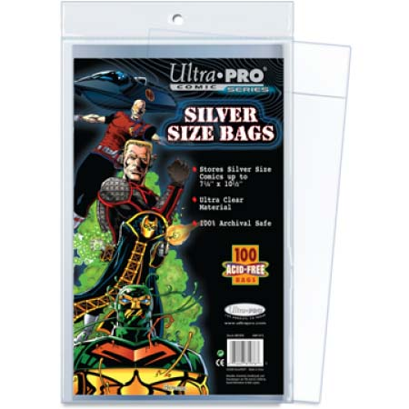 Ultra Pro Comic Storage Accessories - Silver Size Comic Bags 100 bags/pack