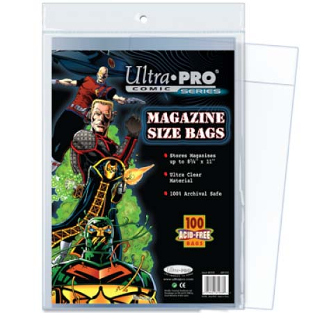 Ultra Pro Comic Storage Accessories - Magazine Size Comic Bags 100 bags/pack