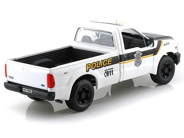 1:27 Maisto - 1999 Ford F-350 Super Duty Pickup Truck & 1:24 Police Harley