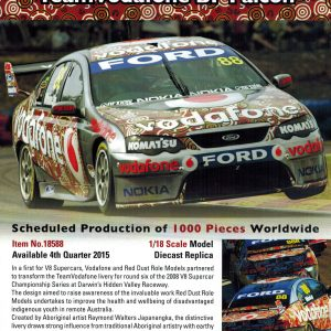 1:18 2008 Team Vodafone BF Falcon - Red Dust Darwin Livery - Whincup
