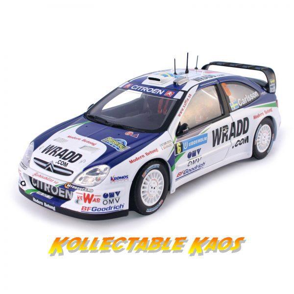 1:18 SunStar - 2007 Rally Sweden - Citroen Xsara WRC OMV Kronos Citroen - #6 Carlsson/Giraudet