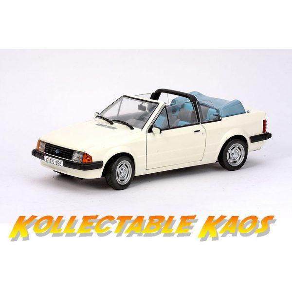 1:18 SunStar - 1984 Ford Escort Mk3 GL Cabrio - Diamond White