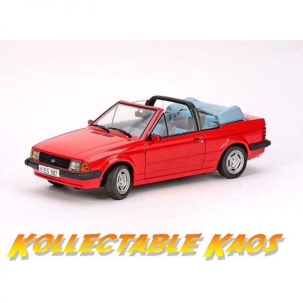 1:18 SunStar - 1984 Ford Escort Mk3 GL Cabrio - Sunburst Red