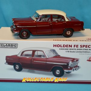 1:18 1956 Holden FE Special - Cascade White Over Etna Maroon
