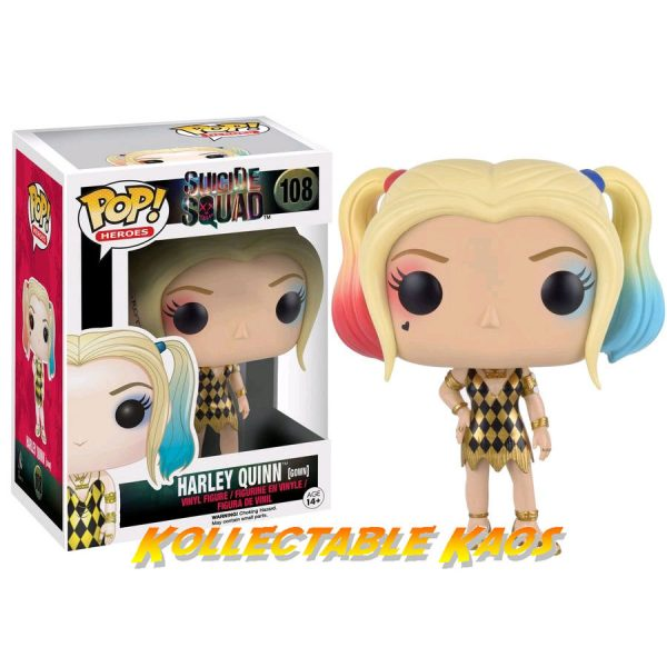 FUN8658 SS dancer Harley 600x600 - Suicide Squad - Harley Quinn Gown Pop! 108 + PROTECTOR