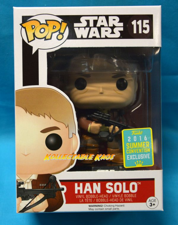 SDCC Star Wars - Han Solo with Bowcaster Ep 7 The Force Awakens SDCC 2016 Exclusive Pop! Vinyl F