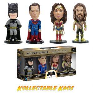 Batman vs Superman: DoJ - 4-Pack Box Set of Mini Wacky Wobbler Bobble Heads