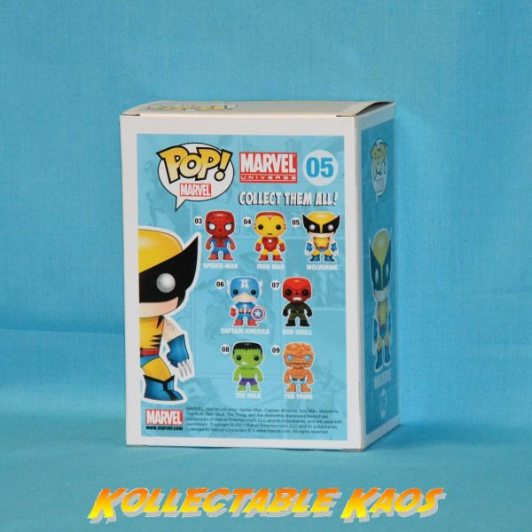 X-Men - Wolverine - Grey Suit Pop! Vinyl Bobble Head Figure #05