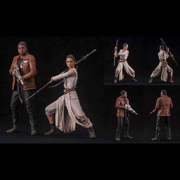 Star Wars - Rey & Finn 2 Pack The Force Awakens Pre-Painted Kit