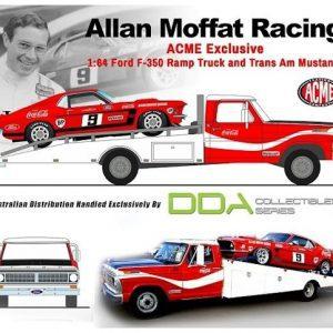 1:64 DDA - Moffat Racing Trans Am Mustang w/Ford F-350 Ramp Truck