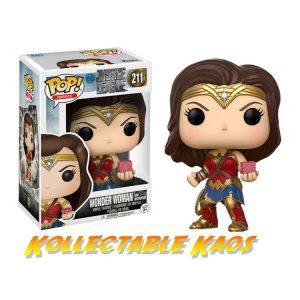 Justice League (2017) - Wonder Woman with Mother Box Pop! Vinyl Figure(RS)