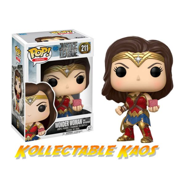 Justice League (2017) - Wonder Woman with Mother Box Pop! Vinyl Figure(RS)