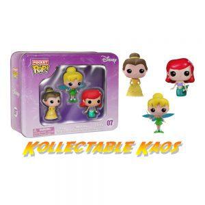 Disney Princesses - Belle, Tinker Bell and Ariel Pocket Pop! Vinyl 3-Pack Tin