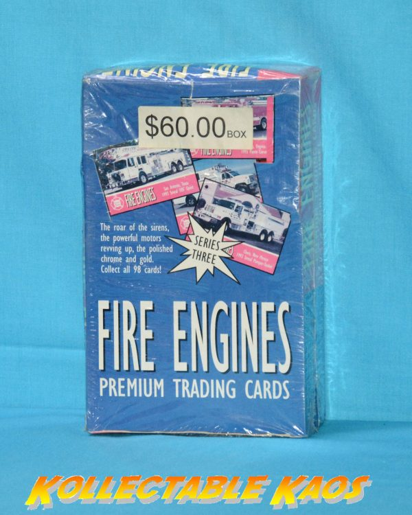 Fire Engines Series 3 Collector Cards Sealed Box