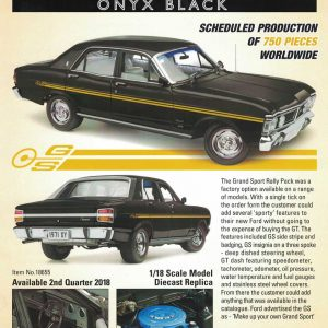 1:18 Ford XY Fairmont Grand Sport - Onyx Black(Pre order)