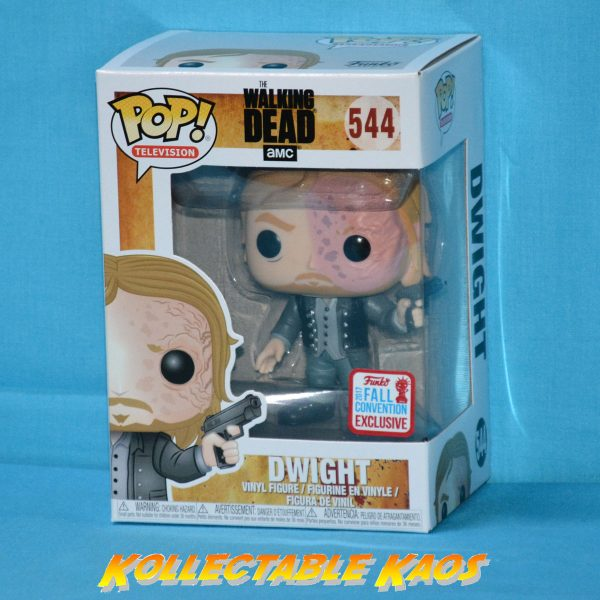 The Walking Dead – Dwight (Burnt Face) Pop! Vinyl #544 - NYCC 2017 + PROTECTOR