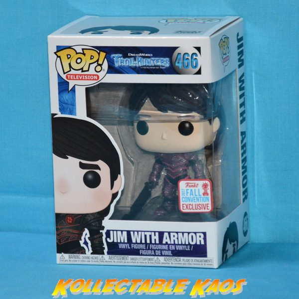 Trollhunters - Jim (Red Armor) Pop! Vinyl #466 - NYCC 2017 Fall Convention