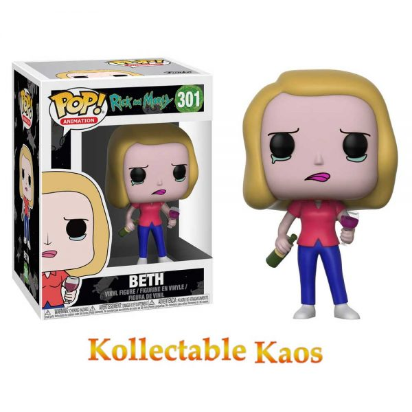 Rick and Morty - Beth with Wine Glass Pop! Vinyl Figure