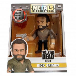 "The Walking Dead - Rick 10cm(4"") Metals Die-Cast Action Figure"