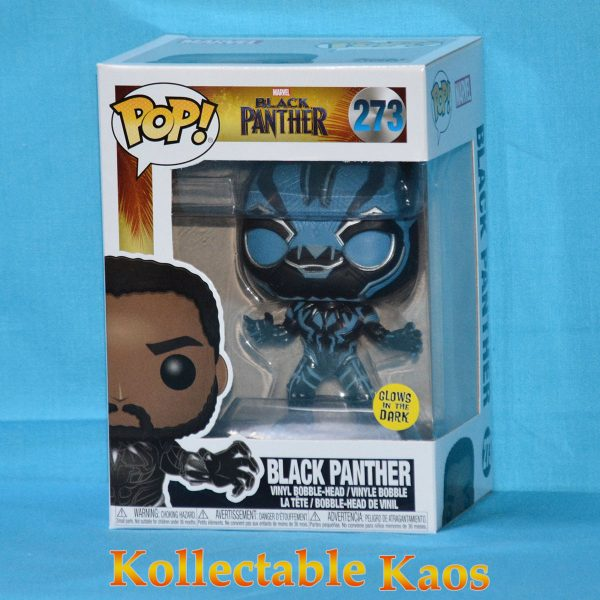 Black Panther - Blue Black Panther Glow in The Dark Pop! + protector