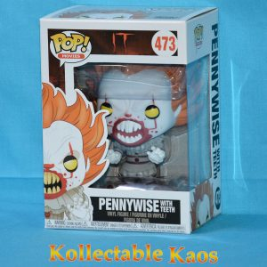 IT (2017) - Pennywise with Teeth Pop! Vinyl Figure #473 Yellow Eyes