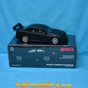 B18H18A Holden VF Black 1 300x300 - 1:18 Holden VF Commodore Supercar - Satin Black Plain Body