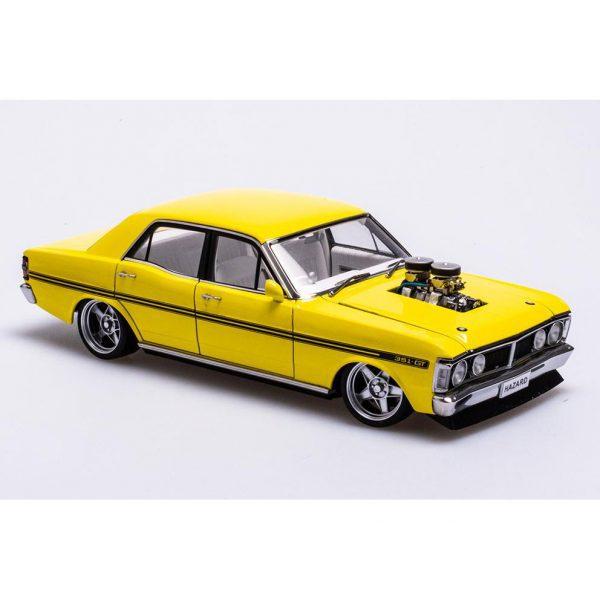 A72792 Ford XY 1 600x600 - 1:18 Ford XY Falcon Street Machine - Hazard Neon Yellow(Pre order)