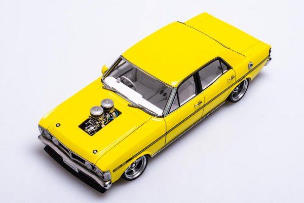 A72792 Ford XY 4 600x400 - 1:18 Ford XY Falcon Street Machine - Hazard Neon Yellow(Pre order)
