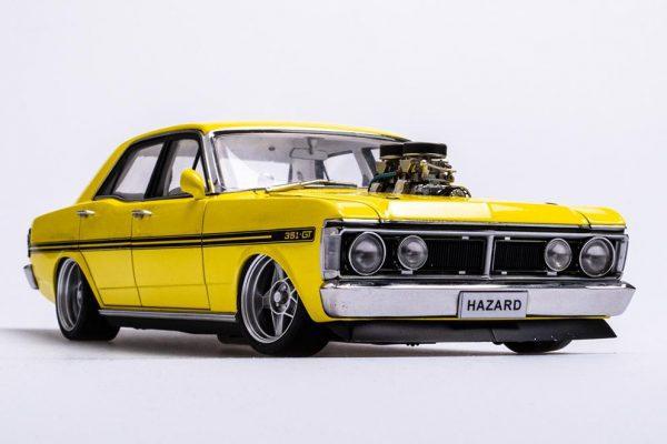 A72792 Ford XY 5 600x400 - 1:18 Ford XY Falcon Street Machine - Hazard Neon Yellow(Pre order)