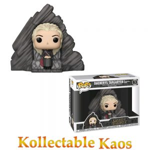 FUN29165 GOT Daenerys Pop 300x300 - Game of Thrones - Daenerys Targaryen on Dragonstone Throne Deluxe Pop! Vinyl Figure #63
