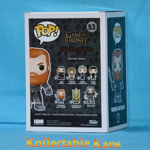 FUN30653 GoT Tormund Snowcovered 2 600x600 - Game of Thrones - Tormund Giantsbane Snow Covered Pop! Vinyl MINOR BOX DAMAGE