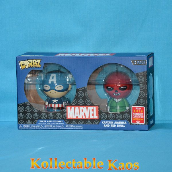 FUN31352 Marvel Cap Skull Dorbz 2pk 1 600x600 - Captain America - Captain America & Red Skull Dorbz 2-Pack (RS)