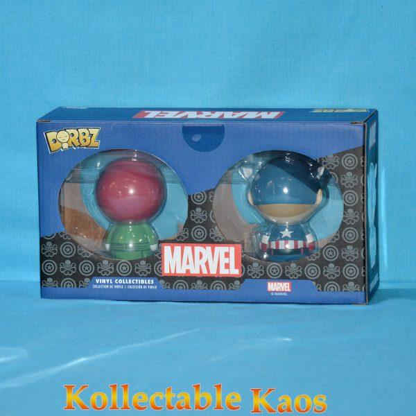 FUN31352 Marvel Cap Skull Dorbz 2pk 2 600x600 - Captain America - Captain America & Red Skull Dorbz 2-Pack (RS)