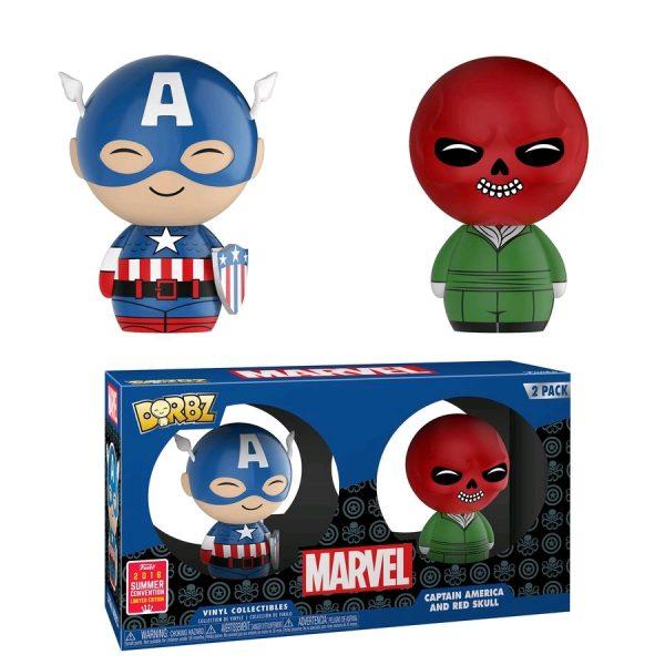 FUN31352 Marvel Cap Skull Dorbz 2pk 3 600x600 - Captain America - Captain America & Red Skull Dorbz 2-Pack (RS)