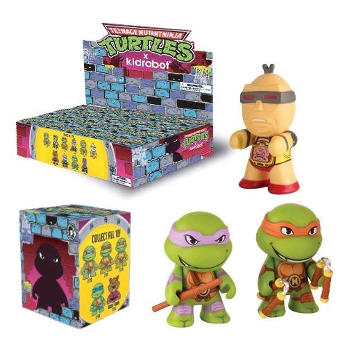 KIDTKLCG007 ninja turtles blind box kid robot 1 1 - Teenage Mutant Ninja Turtles - 7.5cm Mini Vinyl Blind Box(Display of 20)
