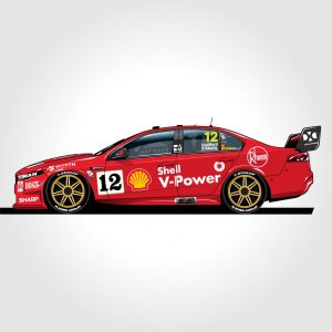 ACR12F18F Ford FG X Coulthard DAlberto 300x300 - 1:12 2018 Sandown 500 Retro Round - Shell V-Power Racing Team #12 - Ford FGX Falcon - Coulthard/D'Alberto(Pre order)