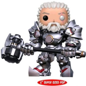FUN13121 Overwatch Reinhardt no mask Pop 300x300 - Overwatch - Unmasked Reinhardt 15cm Super Sized Pop! Vinyl Figure (RS)