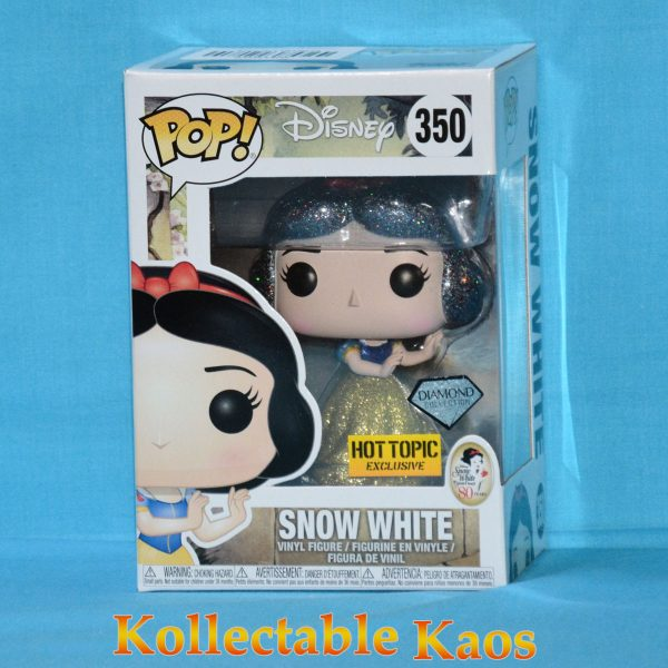 FUN21919 Snow White GT Pop 1 600x600 - Snow White and the Seven Dwarfs - Snow White Diamond Glitter Pop! Vinyl Figure (RS) with Hot Topic Sticker #350