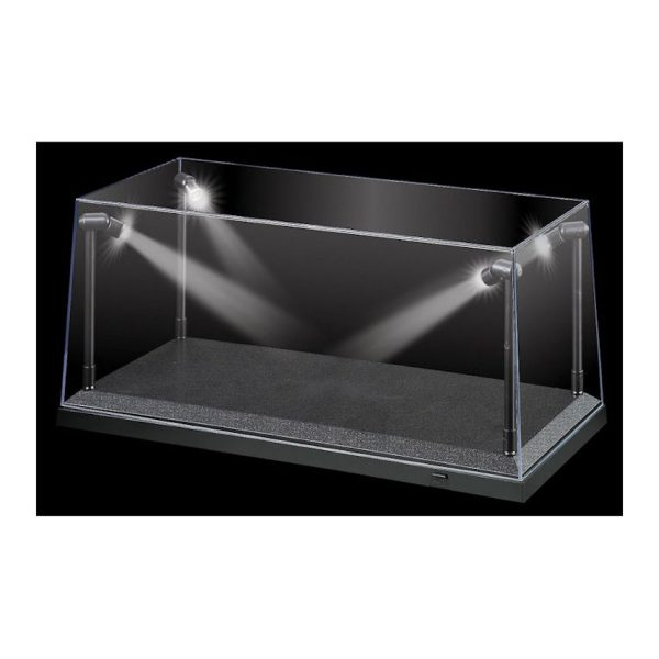 KC9920 Display Case Black 600x600 - 1:18 Black LED Display Case (L) 35.5cm x (W) 15.6cm x (H) 16cm